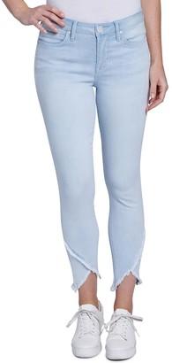 Seven7 Women's Frayed Tulip-Hem Skinny Jeans
