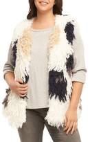 Tart Plus Size Women's Mave Spot Shaggy Faux Fur Vest