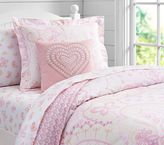 Pottery Barn Kids Mallory Paisley Duvet Cover, Pink, Twin