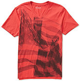 GUESS X-Ray Flag Americana Short-Sleeve V-Neck Graphic Tee
