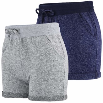 URATOT 2 Pack Casual Sport Shorts Walking Athletic Fitness Dance Pants for Girls and Women