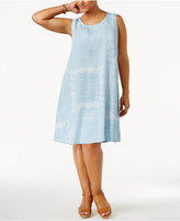 Style&Co. Style & Co Plus Size Printed Denim Swing Dress, Created for Macy's
