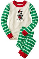 Kids Disney Mickey Mouse Long John Pajamas In Organic Cotton