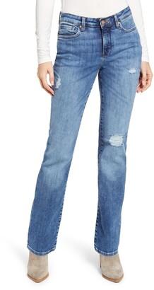 NYDJ Barbara Distressed Bootcut Jeans