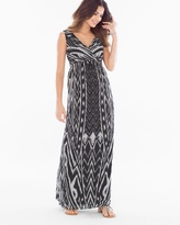 Soma Intimates Chiffon Maxi Dress Arch Ikat Black
