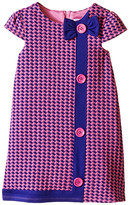 Us Angels Houndstooth Cap Sleeve A-Line Dress (Toddler)