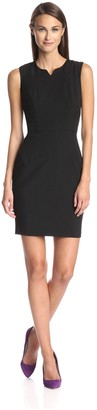 Society New York Women's Notched Neck Sheath Dress