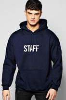 Boohoo Oversized Staff Hoodie