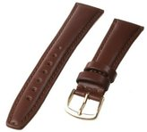 Republic Men's Smooth Leather Watch Strap 20mm Regular Length, Brown