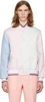 Thom Browne Tricolor Funmix Varsity Jacket