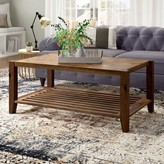 Athena Solid Wood Coffee Table with Storage Laurel Foundry Modern Farmhouse