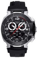 Tissot Men's T-Race Chronograph Silicone Strap Watch, 50Mm
