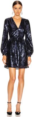 Saloni Camille Mini Dress in Navy | FWRD