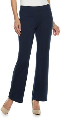 Croft & Barrow Women's Easy Care Pull-On Ponte Bootcut Pants