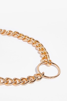Nasty Gal Womens Spin Me Round Chunky Chain Necklace - Gold
