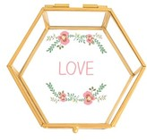 Cathy's Concepts Love Glass Keepsake Box - Metallic