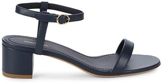 Mansur Gavriel Leather Ankle-Strap Heeled Sandals