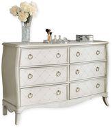 Hillsdale Angela 6-Drawer Double Dresser in Opal Grey