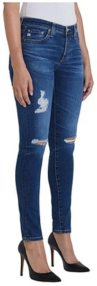 AG Jeans Farrah Skinny Ankle in 8 Years Parallel Destructed (8 Years Parallel Destructed) Women's Jeans