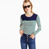 J.Crew Placed-stripe rib T-shirt