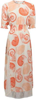 Baum und Pferdgarten Alella Shell Print Midi Dress