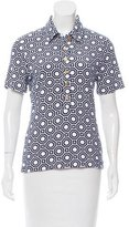 Tory Burch Printed Terry Cloth Polo