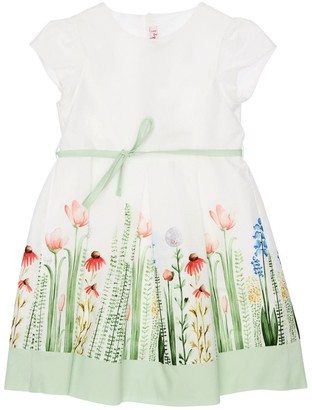 Il Gufo Flower Printed Cotton Poplin Dress