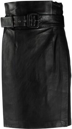 BA&SH Matte High-Waist Skirt
