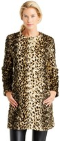 J.Mclaughlin Pella Faux Fur Coat in Leopard