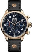 Ingersoll Men's Quartz Stainless Steel and Leather Casual Watch, Color:Black (Model: I02401)