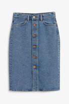 Thumbnail for your product : Monki Long denim skirt