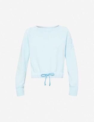 Benetton Logo-embroidered cotton-jersey sweatshirt