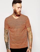 Ymc T-shirt With Neon Stripe - Orange