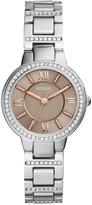 Fossil Women's Virginia Crystal Stainless Steel Bracelet Watch 30mm ES4147
