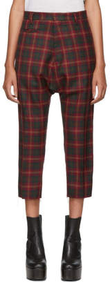 R 13 Red Tailored Drop Trousers