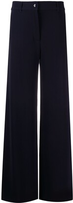 Brag Wette Plain Flared Trousers