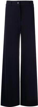 Brag-wette Plain Flared Trousers