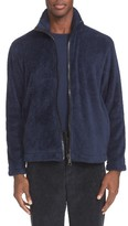 Our Legacy Men's Funnel Neck Zip Front Polar Fleece Jacket