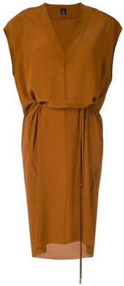 OSKLEN V-neck silk dress