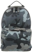 Valentino Leather-Trimmed Camouflage Backpack w/ Tags