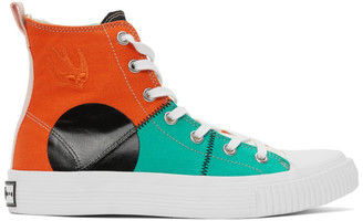 McQ Multicolor Swallow Orbyt High Sneakers