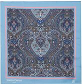 Simon Carter Framed Paisley Pocket Square