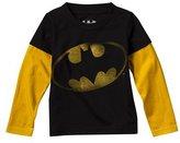 Infant Toddler Boys' Black Basin Long-sleeve Batman Tee