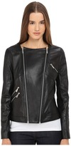 The Kooples Thin Leather & Rib Jacket