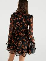 Very Floral Chiffon Swing Tunic - Print