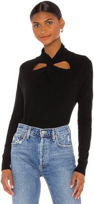 Autumn Cashmere Long Sleeve Cut Out Twist Neck Sweater