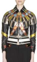 Givenchy Python Zip-Hem Leather Jacket