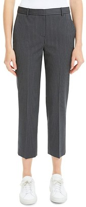 Theory Virgin Wool Stripe Tailored Trousers