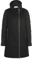 Moncler Aglaia Paneled Twill And Quilted Shell Down Coat - Black
