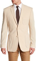 English Laundry Beige Plaid Two Button Notch Lapel Sport Coat